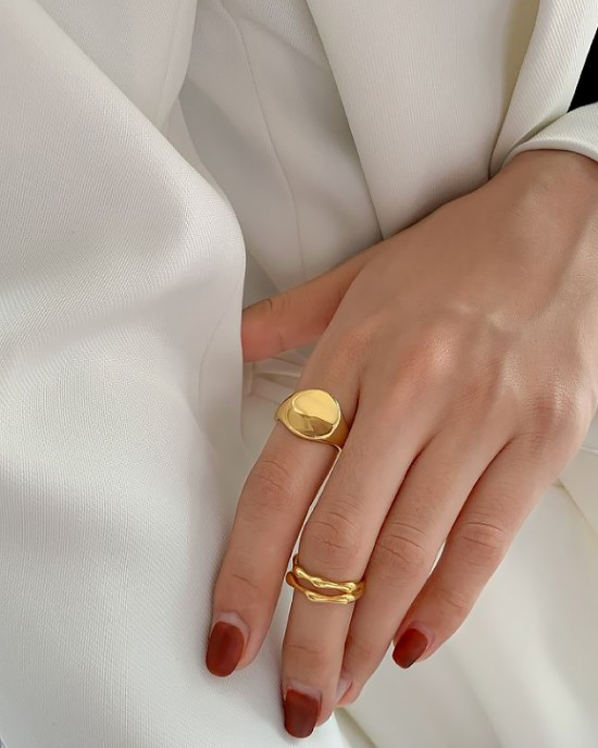 JESSICA Gold Vermeil Pinky Ring