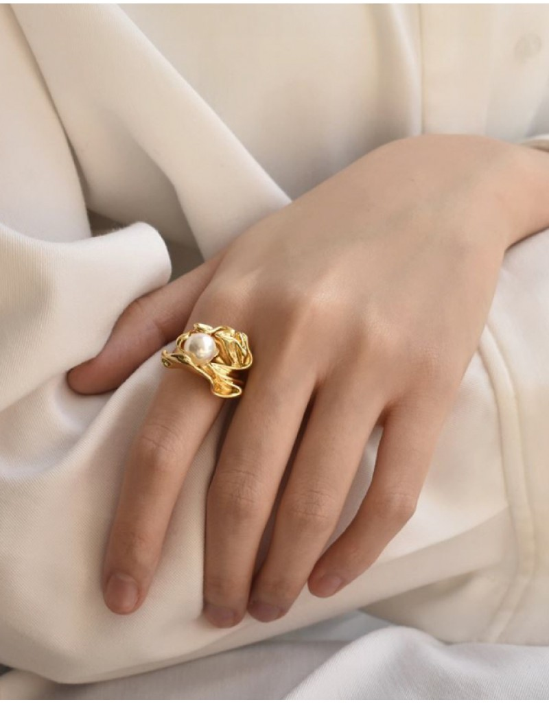 JOSÉPHINE Gold Pearl Ring