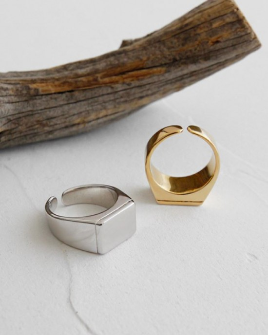 LAYLA Silver Signet Ring