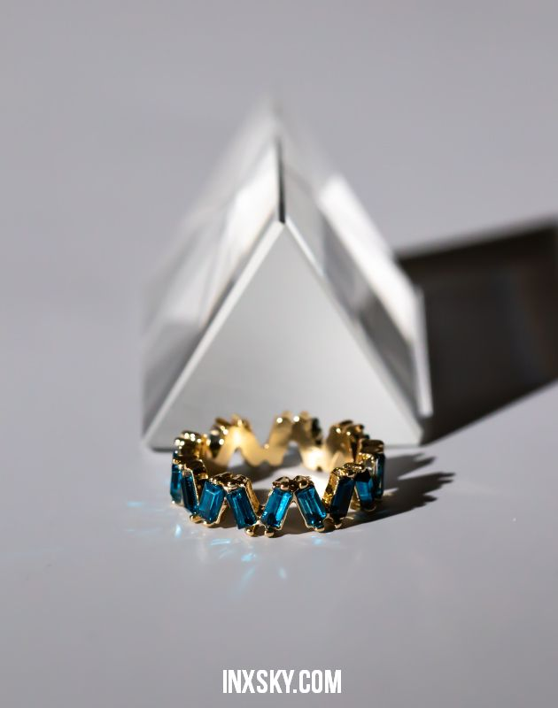 LEILA Blue Glass Stones Ring