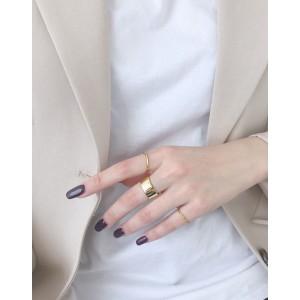 LEXIE Gold Boyfriend Stacker Ring