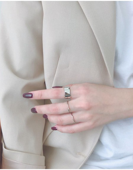LEXIE Silver Boyfriend Stacker Ring