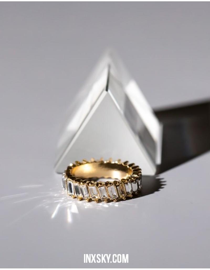LOLITA White Glass Stones Ring