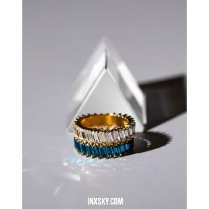 LOLITA Blue Glass Stones Ring