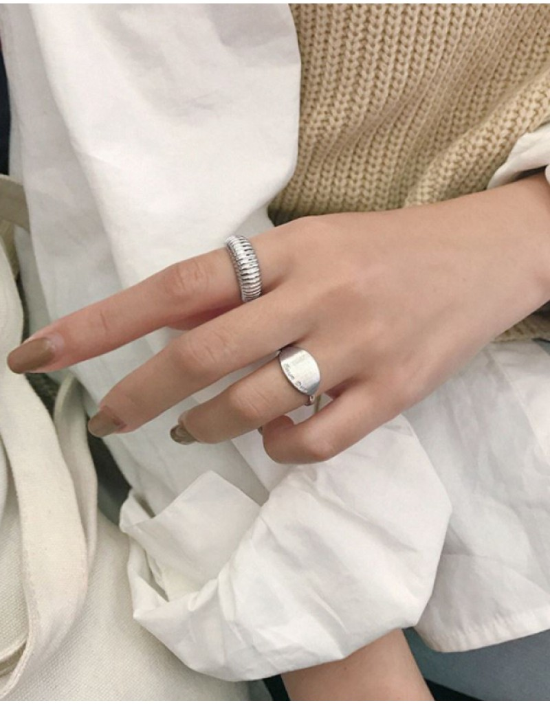 MARINA Sterling Silver Croissant Dome Ring