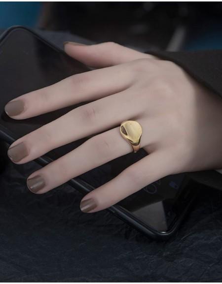 MAUD Gold Vermeil Signet Ring