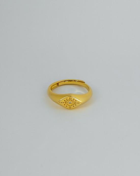 MAYA Gold Vermeil Demi Signet Ring