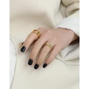 MERCI Gold Vermeil Ring