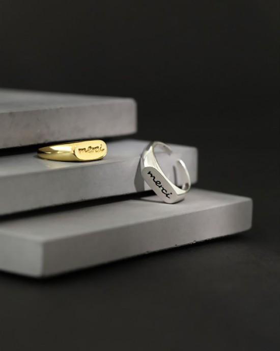 MERCI Sterling Silver Ring