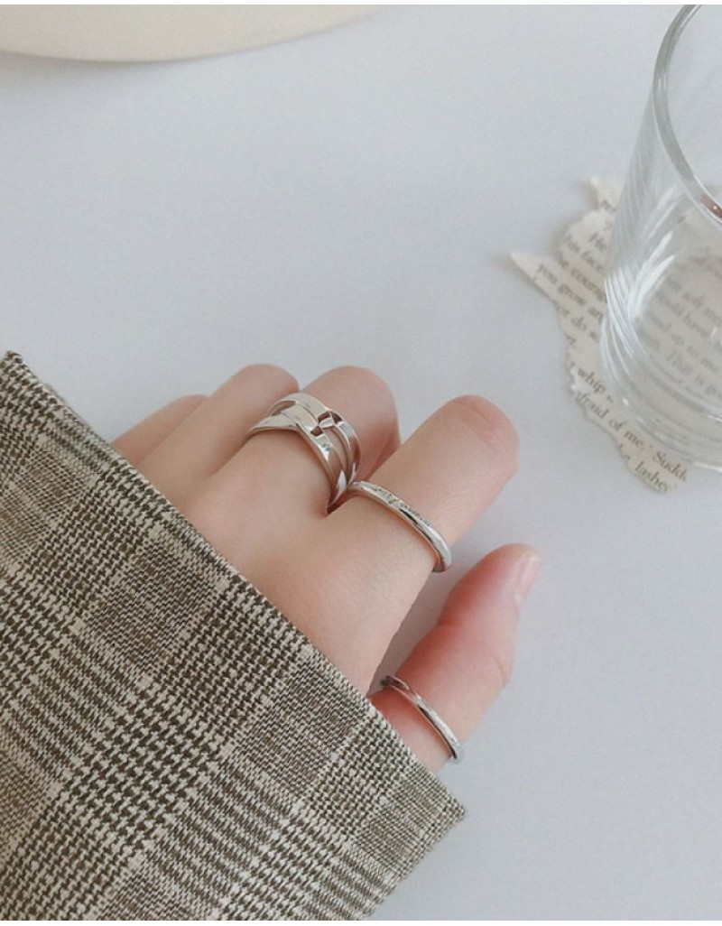 MOON & SUN Sterling Silver Ring