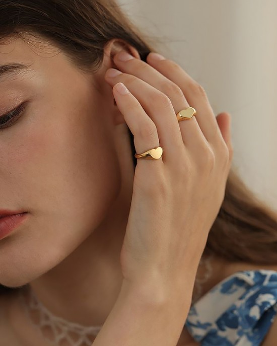 SADIE Gold Vermeil Signet Ring