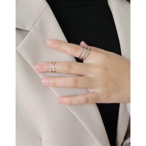 SAFETY PIN Sterling Silver Pinky Ring
