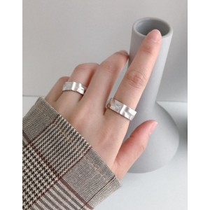 SKYLAR Matte Sterling Silver Ring
