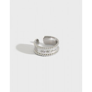 SMILE Silver Boyfriend Stacker Ring