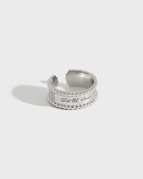 SMILE Silver Boyfriend Stacker Ring