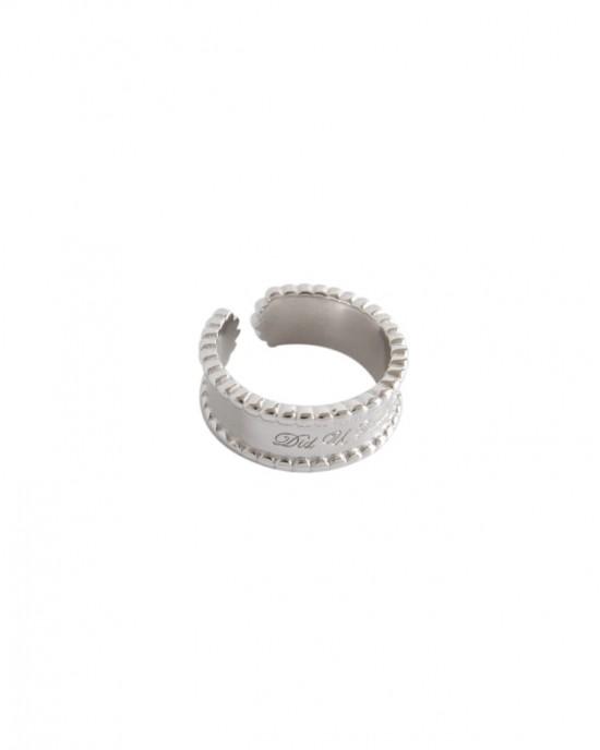 SMILE Sterling Silver Boyfriend Stacker Ring
