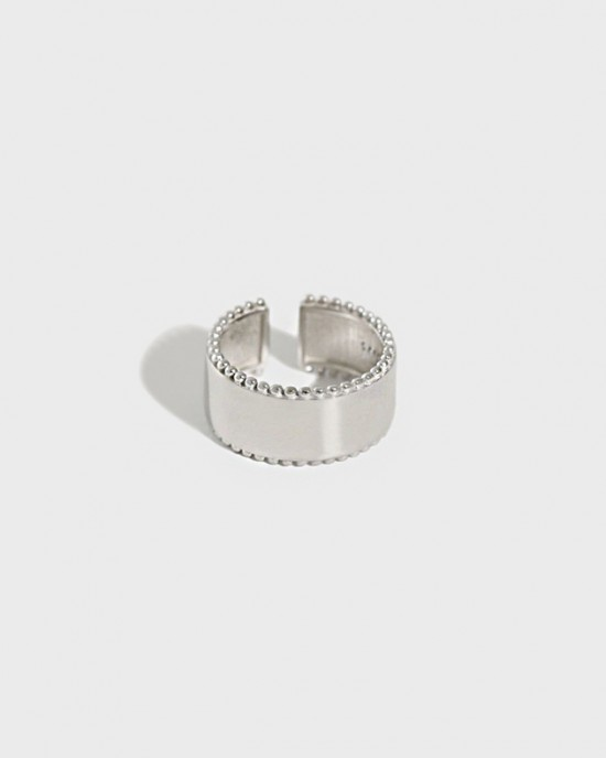 TAYLOR Silver Boyfriend Stacker Ring