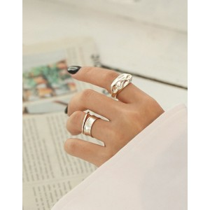 THEA Matte Sterling Silver Ring